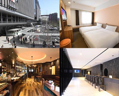 博多駅や博多グリーンホテルのイメージ